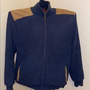 Orvis Mens Cardigan Patch Sweater Size Medium